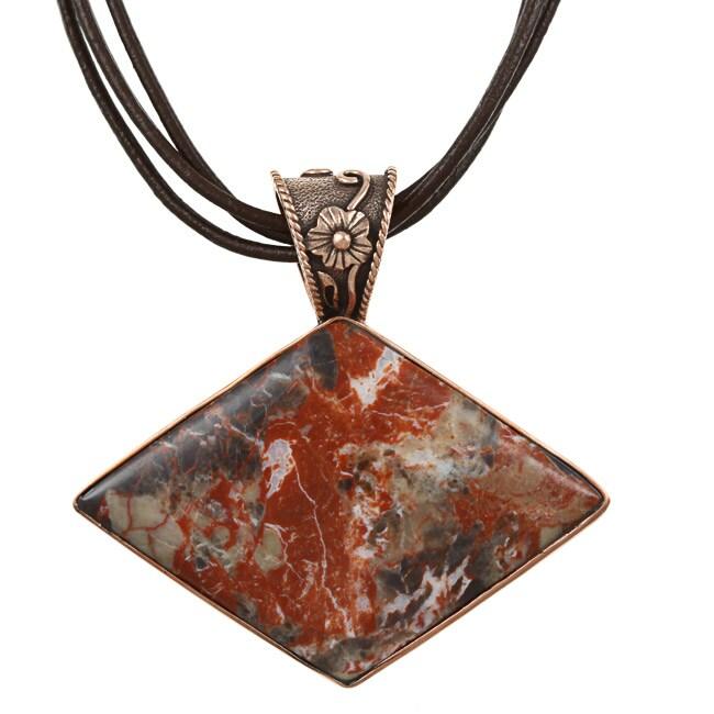 Southwest Moon Copper Fancy Jasper Necklace