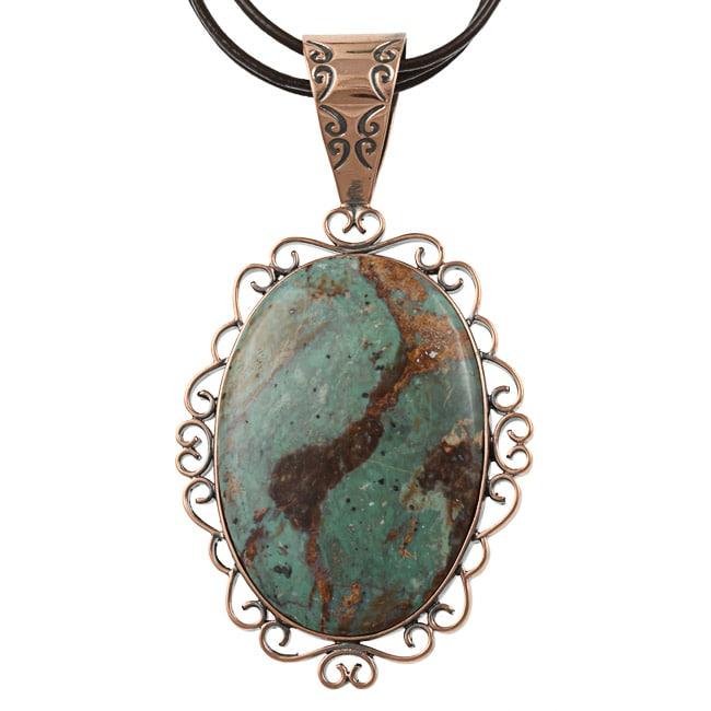 Southwest Moon Copper Mongolian Copper Mountain Jasper Necklace