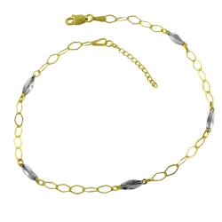 Fremada 14k Two-tone Gold 10-inch Anklet