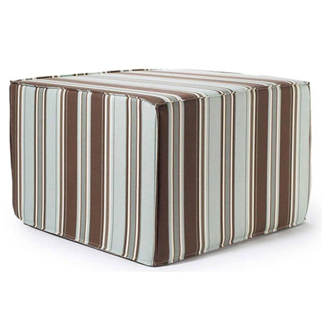 'SPA Thick Stripes' Outdoor Ottoman