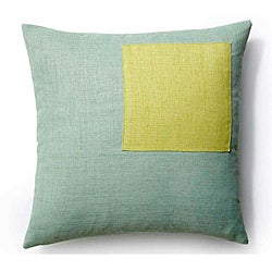Rebel Square Mint/ Celery Outdoor Pillow (20x20 inch)