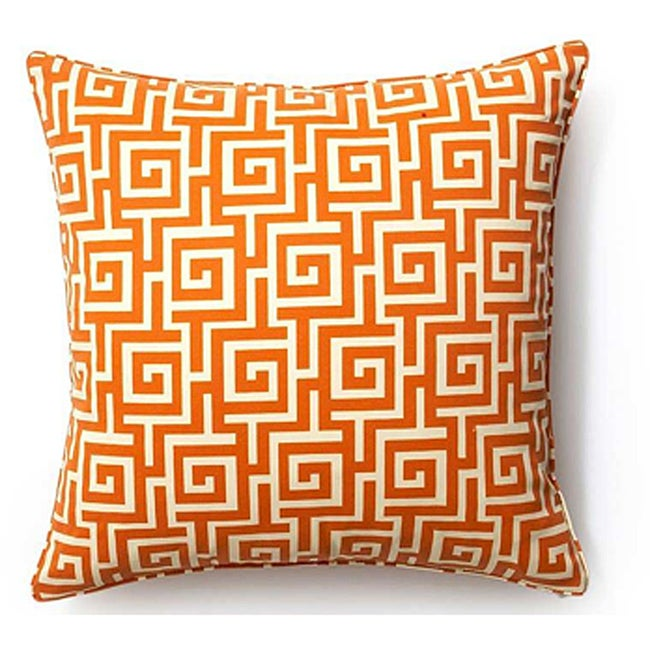 Orange Puzzle 20x20-inch Outdoor Decorative Pillow - Thumbnail 0