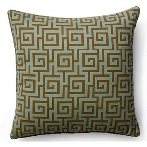 Jiti Grey Puzzle Geometric Outdoor Sunbrella Decorative Pillow - 20 x 20 - 20 x 20