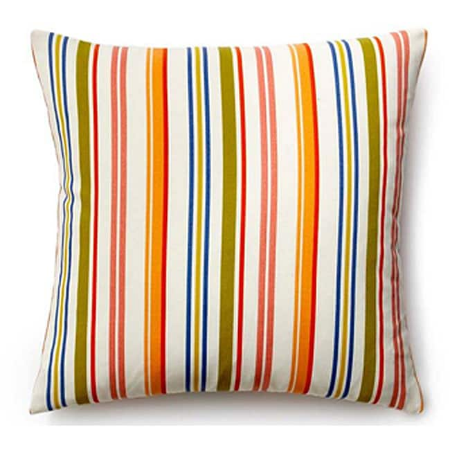 Outdoor 20x20-inch Rainbow Thin Stripes Pillow