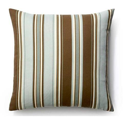 Jiti Cream Spa Thick Stripes Sunbrella Outdoor Pillow - 20 x 20 - 20 x 20