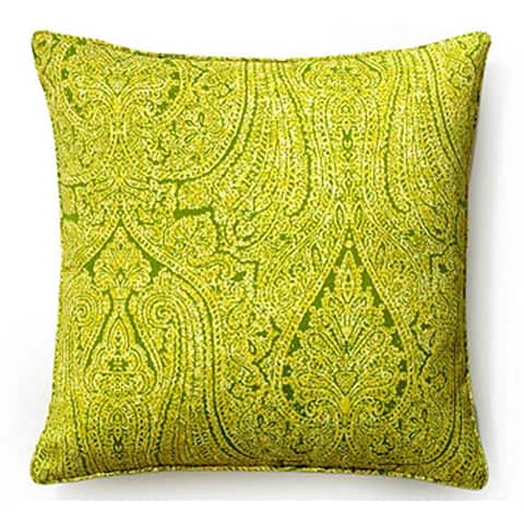 Jiti Green Paisley Sunbrella Outdoor Pillow - 20 x 20 - 20 x 20