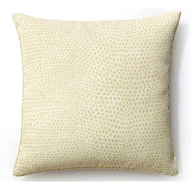 Shop Handmade Cream Cheetah 20x20 Inch Outdoor Pillow United States