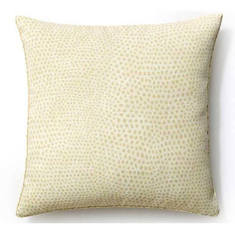 Jiti Cream Cheetah Animal Modern Sunbrella Outdoor Pillow - 20 x 20