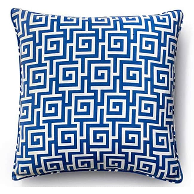 Blue Puzzle 20x20-inch Outdoor Decorative Pillow