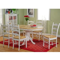 Simple Living White/ Natural 7 Piece Ladderback Dining Set