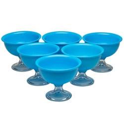Red Vanilla Blue Summer Ice Cream Bowls (Set of 6)