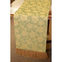 Corona Decor European Woven Floral 84-inch Table Runner