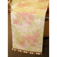 Corona Decor Italian Floral 70-inch Table Runner with Tassels