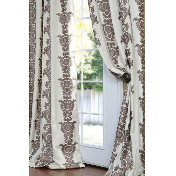 Exclusive Fabrics Ralston Faux Silk 96-inch Curtain Panel