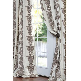 Exclusive Fabrics Ralston Faux Silk 84-inch Curtain Panel