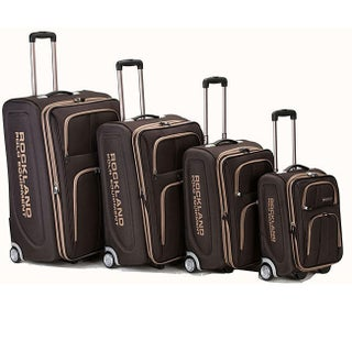 Rockland Polo Equipment Olympian 4-piece Expandable Luggage Set (Option: Brown)