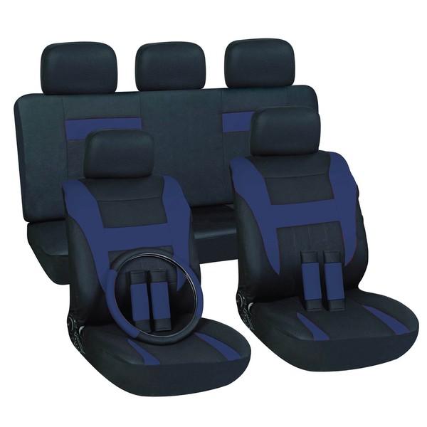 Blue 16-piece Car Seat Cover Set