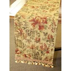 Corona Decor Italian-Style Multicolored Floral-Motif 70-Inch Table Runner