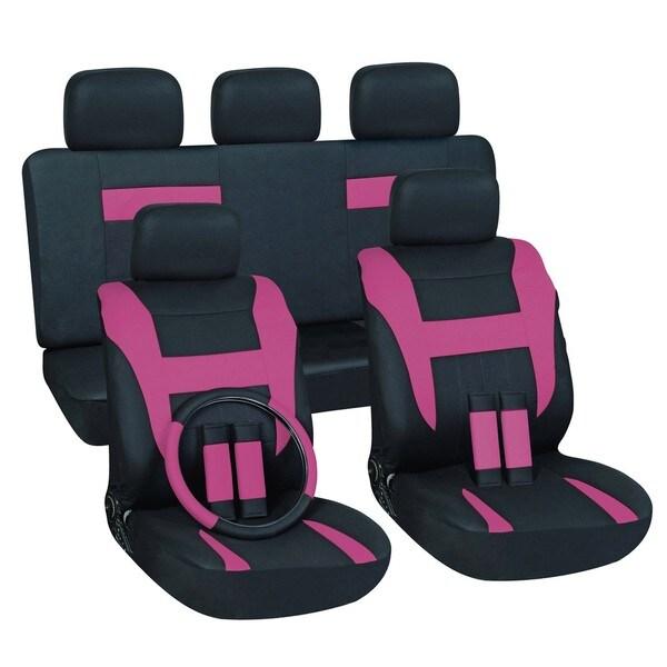 Pink 16-piece Car Seat Cover Set