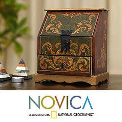 Wood and Wrought Iron 'Red Secretaire' Jewelry Box (Peru)