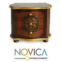 Handmade Cedar Wood Antique Elegance Jewelry Box (Peru)