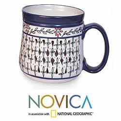 Set of 4 Handcrafted 'Sierra Wonders' Ceramic Mugs (Mexico)