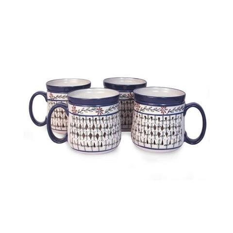 Handmade Sierra Wonders Set of 4 Ceramic Mugs (Mexico)