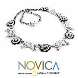 Sterling Silver Handcrafted 'Mexican Romance' Necklace (Mexico) - Thumbnail 1