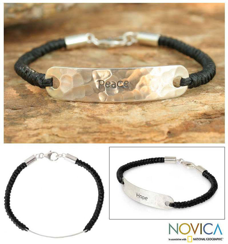 Handcrafted Sterling Silver 'Spirit of Peace' Bracelet (Thailand)