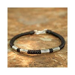 Handcrafted Silver 'Hill Tribe Belle' Braided Bracelet (Thailand)