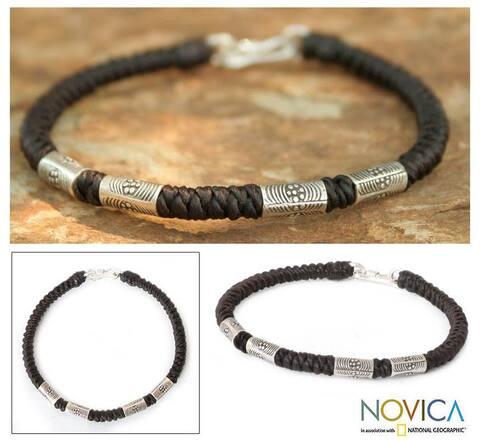 Handmade Silver 'Hill Tribe Belle' Braided Bracelet (Thailand)
