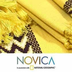 Handmade Cotton 'Maya Sun' 8-piece Placemats and Napkins Set (Guatemala) - Thumbnail 2