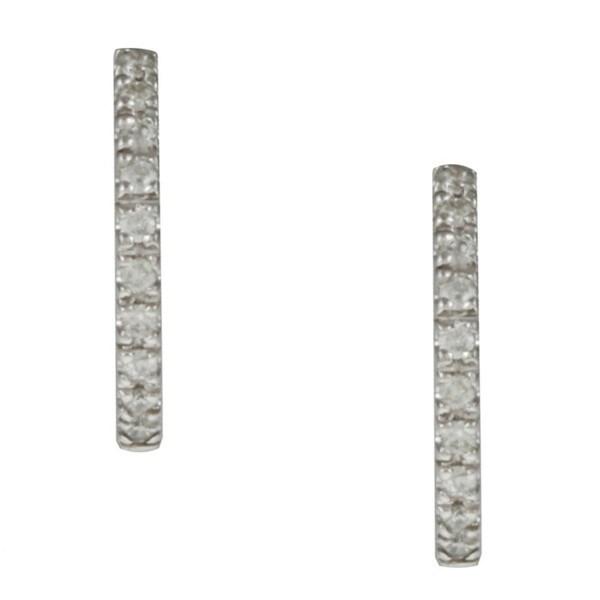 14k Gold 1/6ct TDW Tiny 12mm Diamond Hoop Earrings (G-H, I1-I2)