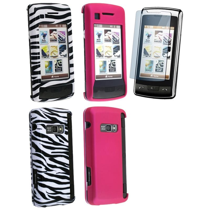 INSTEN 3-piece Phone Case Cover/ Screen Protector for LG enV Touch VX11000