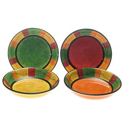 Certified International Caliente 9.5-in Soup Bowls (Set of 4)
