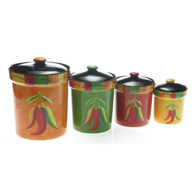 Certified International Caliente 4-piece Canister Set