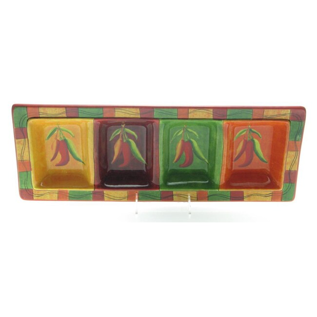 Certified International Caliente 4-section Relish Tray