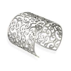 Mondevio Stainless Steel Filigree Design Large Cuff Bangle Bracelet https://ak1.ostkcdn.com/images/products/6039014/75/980/Mondevio-Stainless-Steel-Filigree-Design-Cuff-Bracelet-P13718371.jpg?impolicy=medium