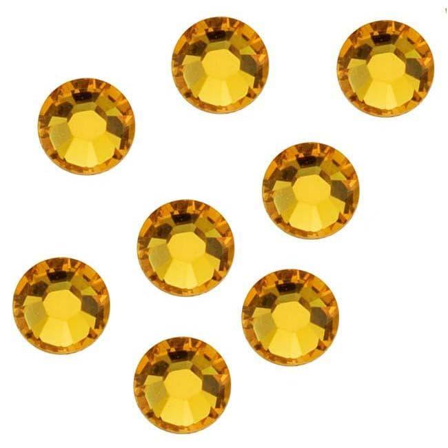 Beadaholique Sunflower ss12 Austrian Crystal Flatback Rhinestones (Pack of 50)