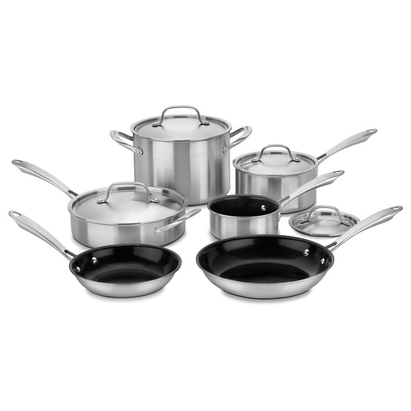 Shop Cuisinart Ggt 10 Gourmet 10pc Tri Ply Stainless Steel