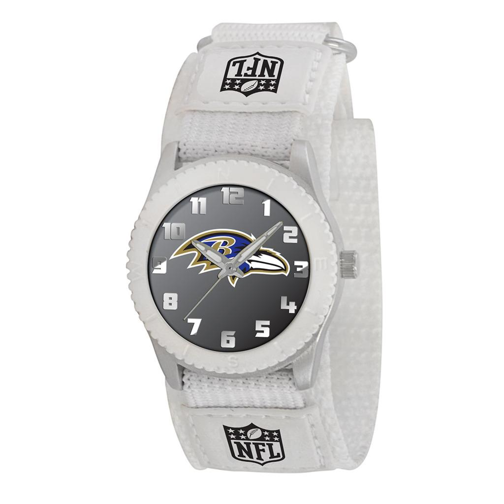 Game Time NFL Baltimore Ravens White Rookie Series Watch