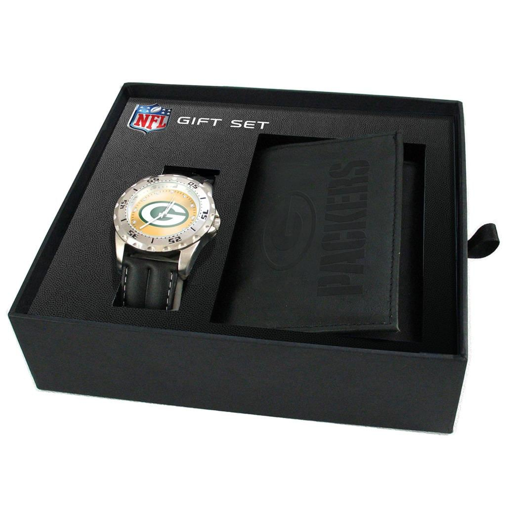 Green Bay Packers Watch and Wallet Gift Set - Thumbnail 0