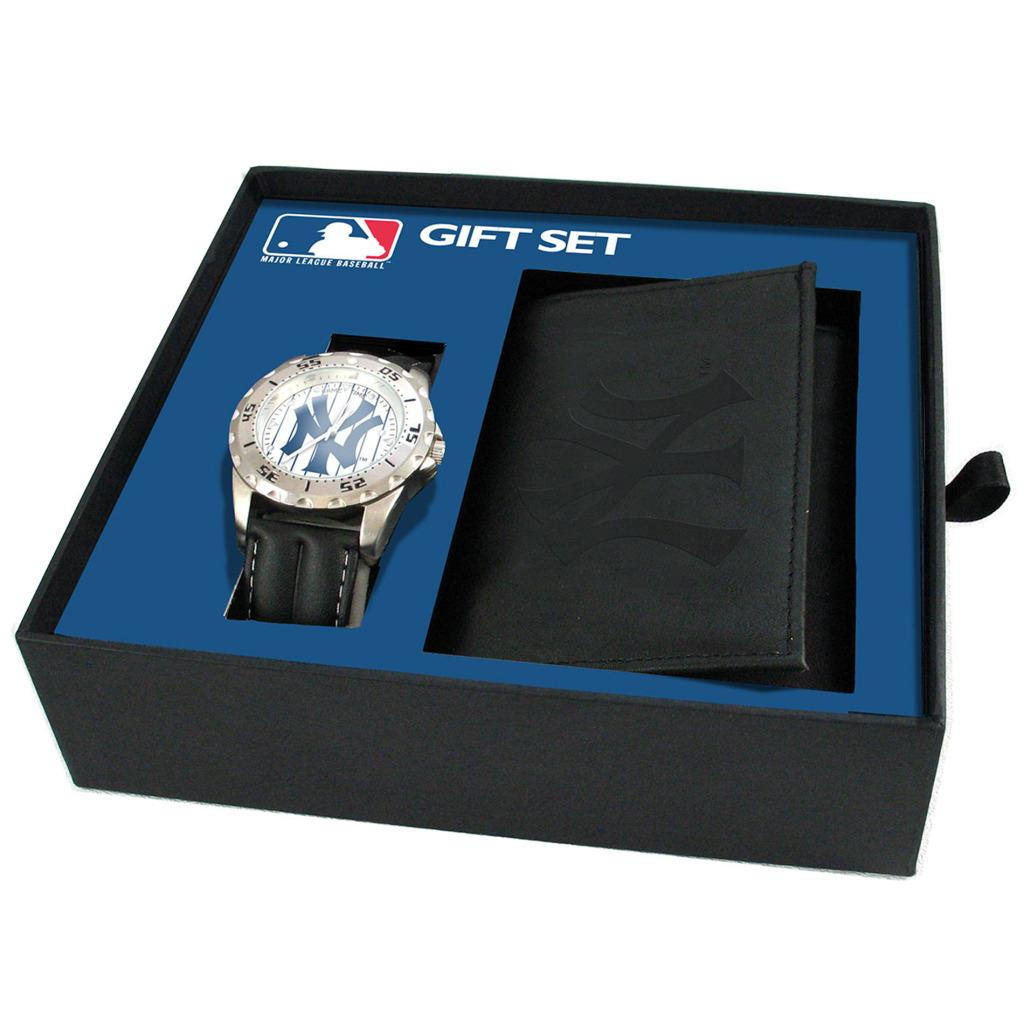 New York Yankees Watch and Wallet Gift Set - Thumbnail 0