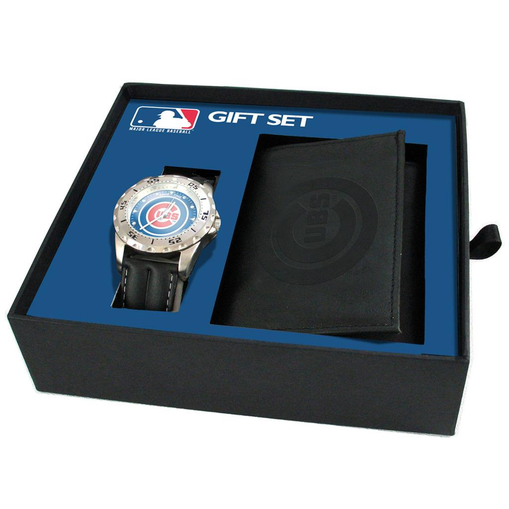 Game Time Chicago Cubs Watch and Wallet Gift Set