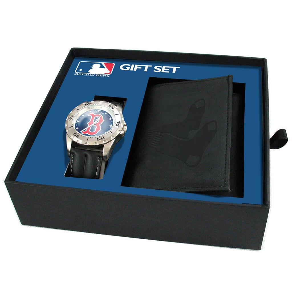 Boston Red Sox Watch and Wallet Gift Set