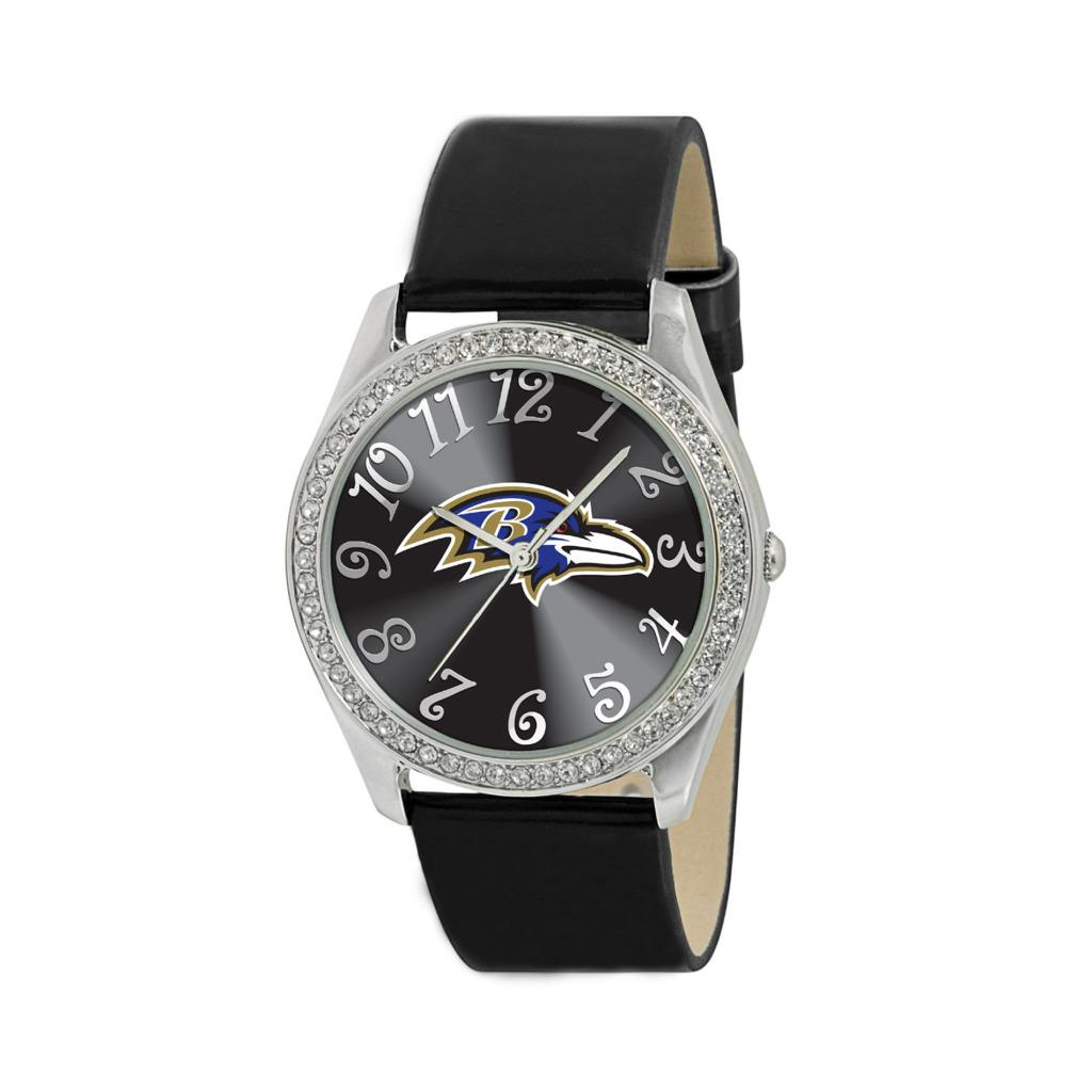 Game Time Baltimore Ravens Women's Glitz Classic Analog Patent Leather Watch