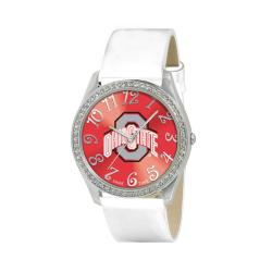 Ohio State Buckeyes Women's Glitz Classic Analog Patent Leather Watch - Thumbnail 0