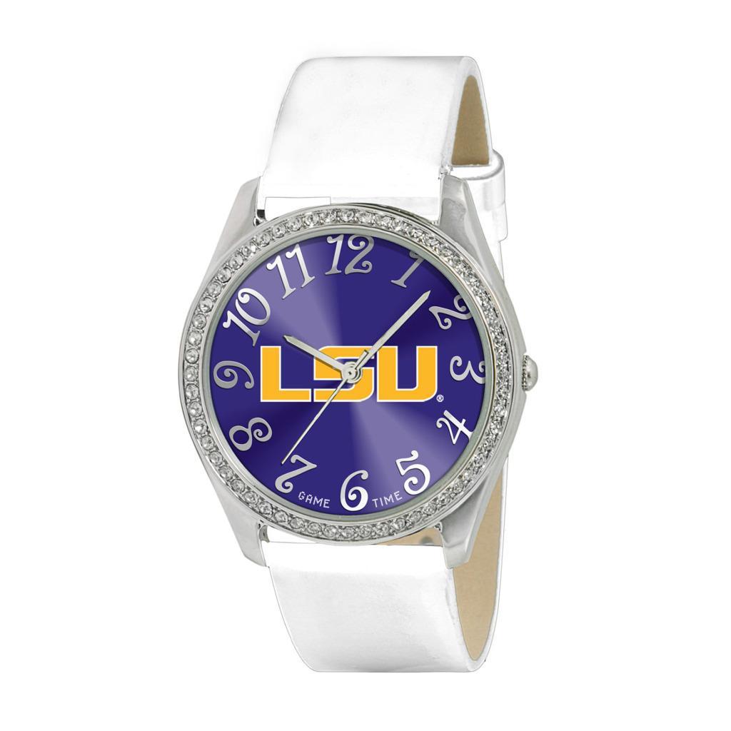 Game Time NCAA LSU Tigers Women's Glitz Classic Analog Patent Leather Watch