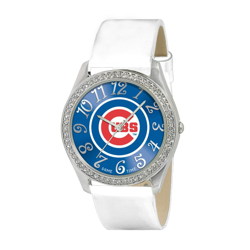 Game Time Chicago Cubs Women's Glitz Classic Analog Patent Leather Watch - Thumbnail 0