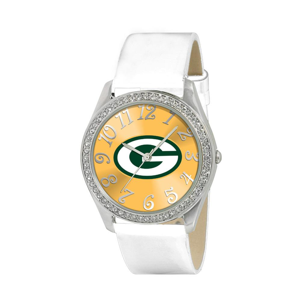 Green Bay Packers Women's Glitz Classic Analog Patent Leather Watch